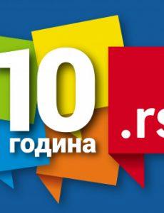 10 godina .RS domena